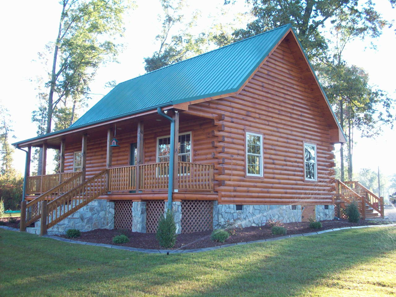 Log home builders eastern nc southern va quality log for Complete kit homes