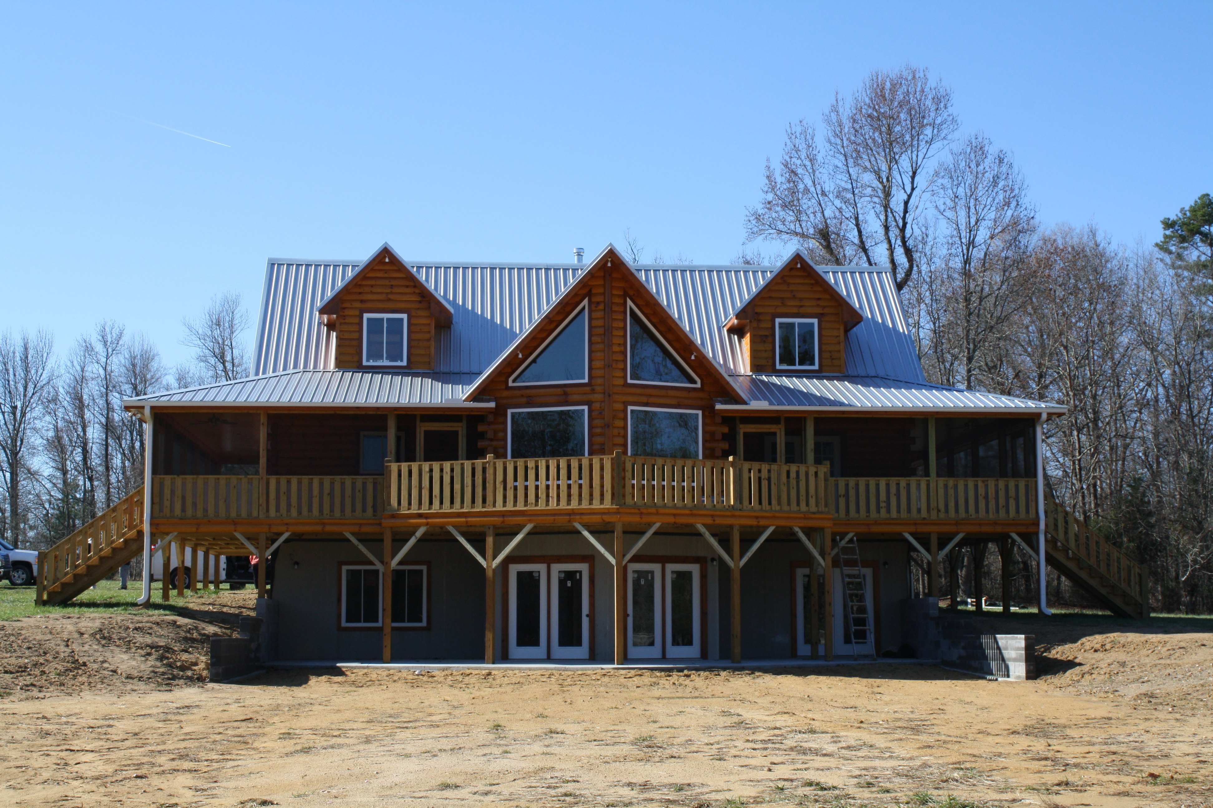 Log Home With Basement And In Law Suite North Carolina