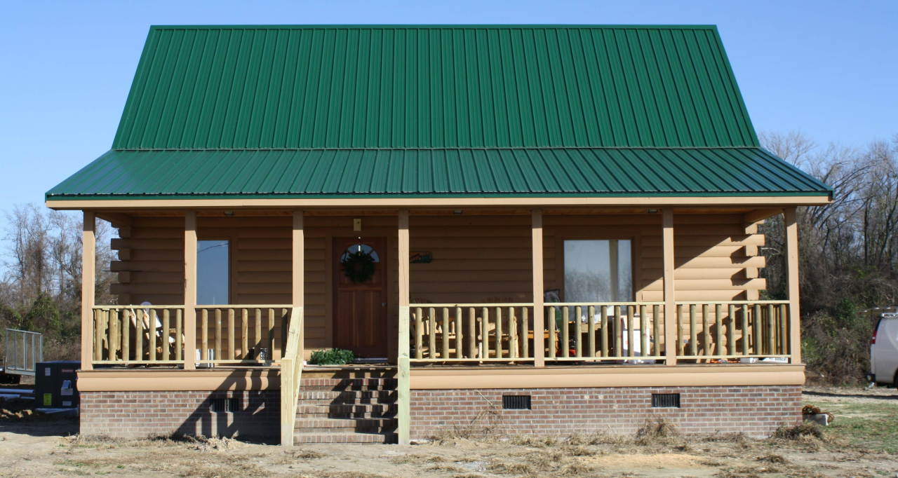 Custom 2 story log home in north carolina for Three story log cabin
