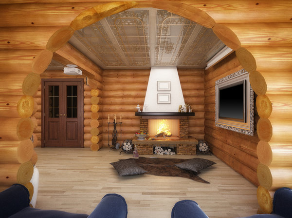 Log Cabin Builders Fireplaces